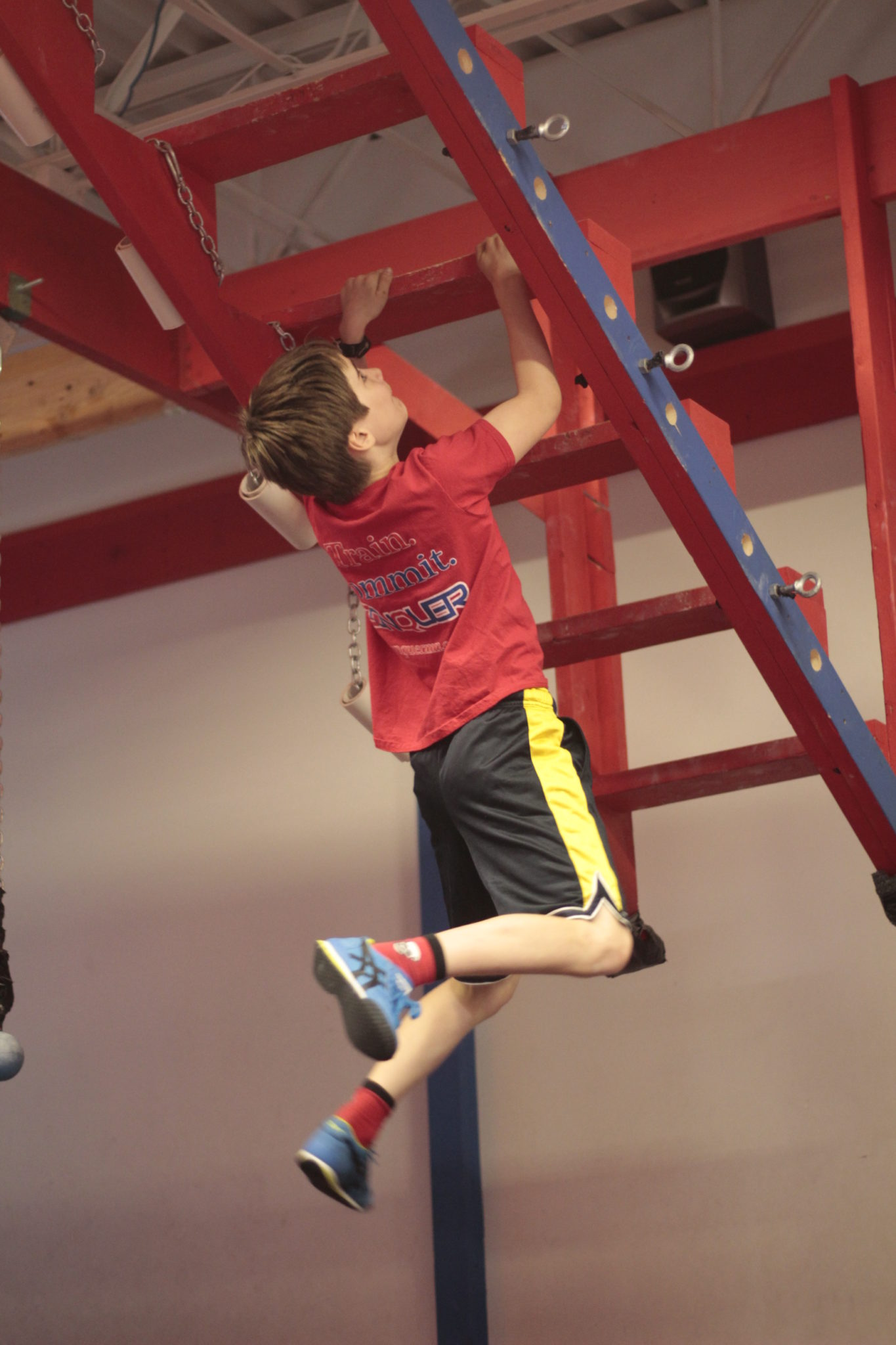 """Open Staircase Obstacle. Image by  <a href=""""http://www.conquermn.com/"""" target=""""_blank"""">Conquer Ninja Warrior</a>"""